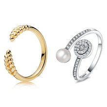 2 Стиль 1 шт для женщин Серебряный Цвет кольца ювелирные изделия