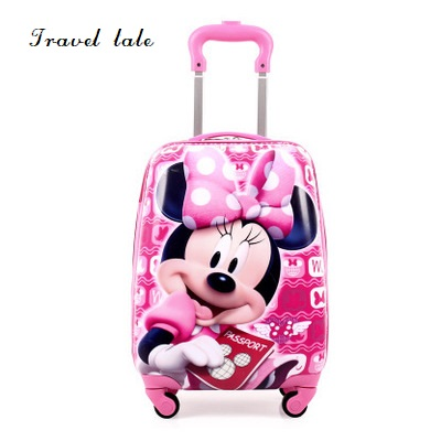 Travel tale cartoon children17 inch size PC Rolling Luggage Spinner brand Travel Suitcase Fashion бур messer bi 18 600