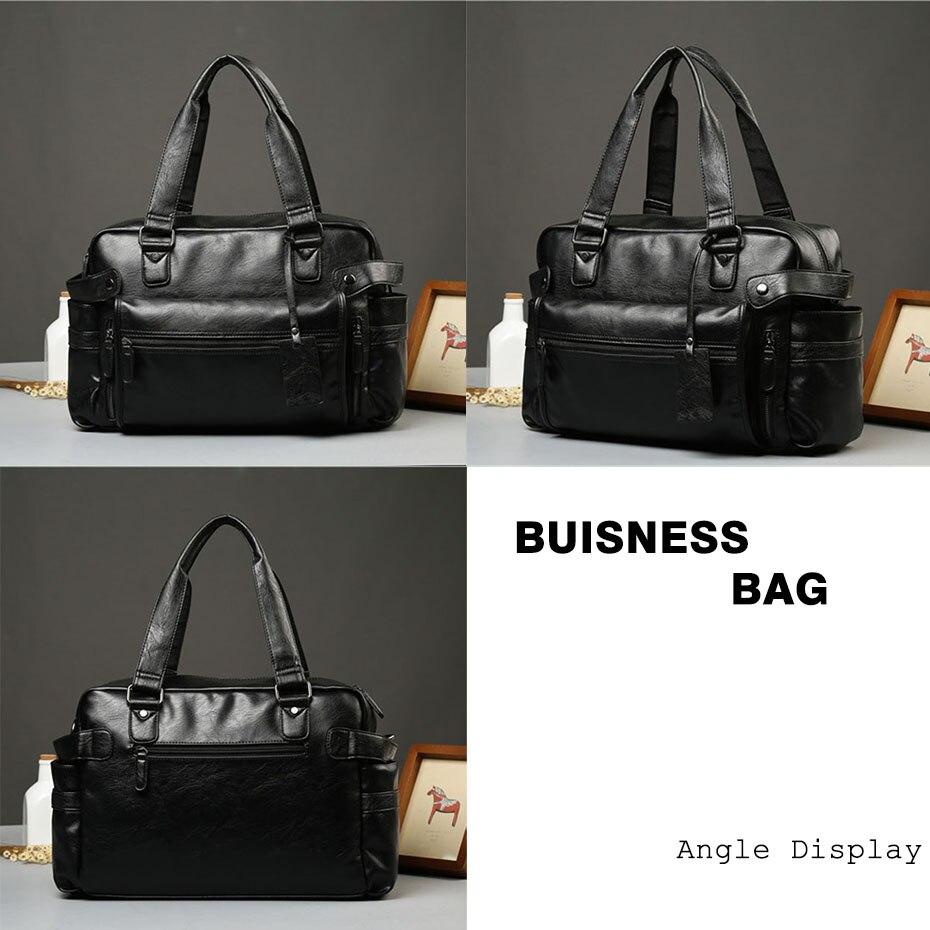 HTB1gEwtX6zuK1Rjy0Fpq6yEpFXac Men'S Briefcase Messenger Shoulder Bags Large Capacity Handbag Business High Quality Leather Computer Bags Laptop Multifunction