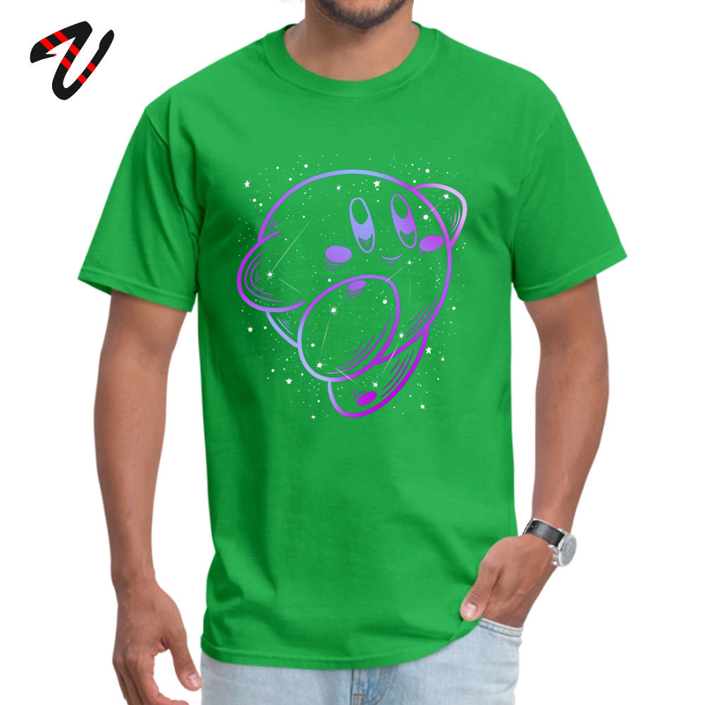 Kirby Constellation Short Sleeve Tops & Tees Crewneck 100% Cotton Men Top T-shirts Classic Tee Shirts Graphic Drop Shipping Kirby Constellation10926 green