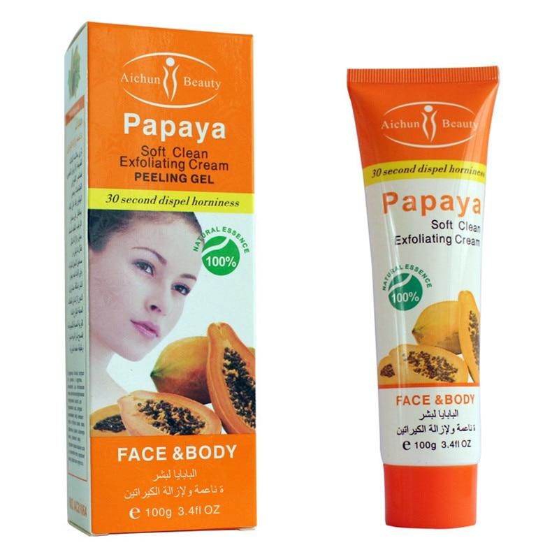 Aichun Beauty Papaya Essence Scrub Peeling Gel Whitening Cream Exfoliating Cream Face Body Skin Moisturizing Face Hand Body Care