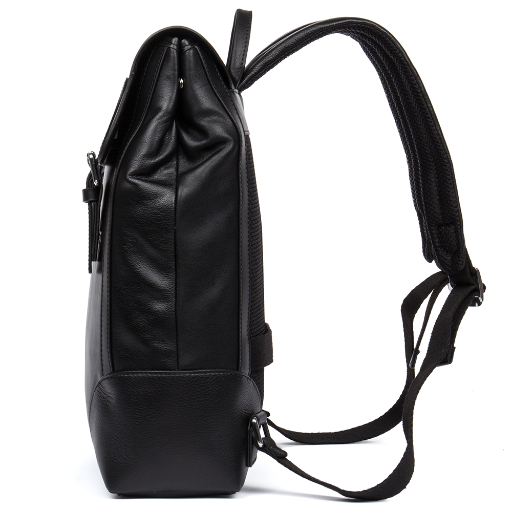 DANJUE Fashion Men Backpack Genuine Leather School Bag Students Trendy Cover Travel Bags Male Leisure 14inch Laptop Backpack Man