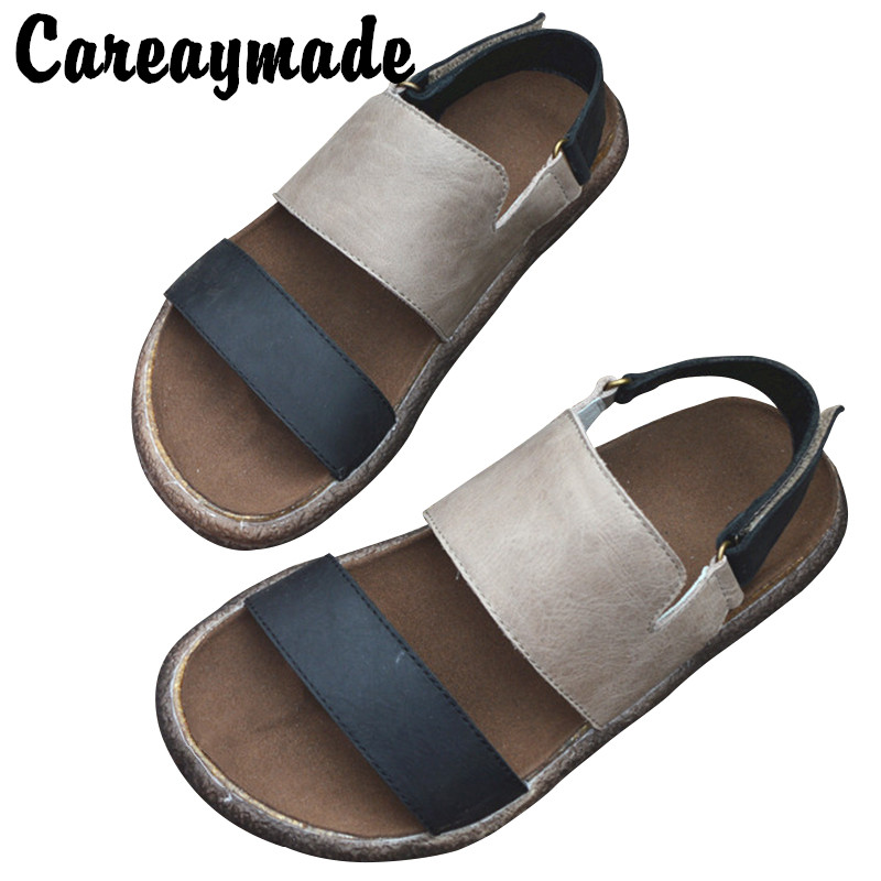 Careaymade the first layer of cowhide leather Rome collage Japanese shoes hand genuine leather back ancient