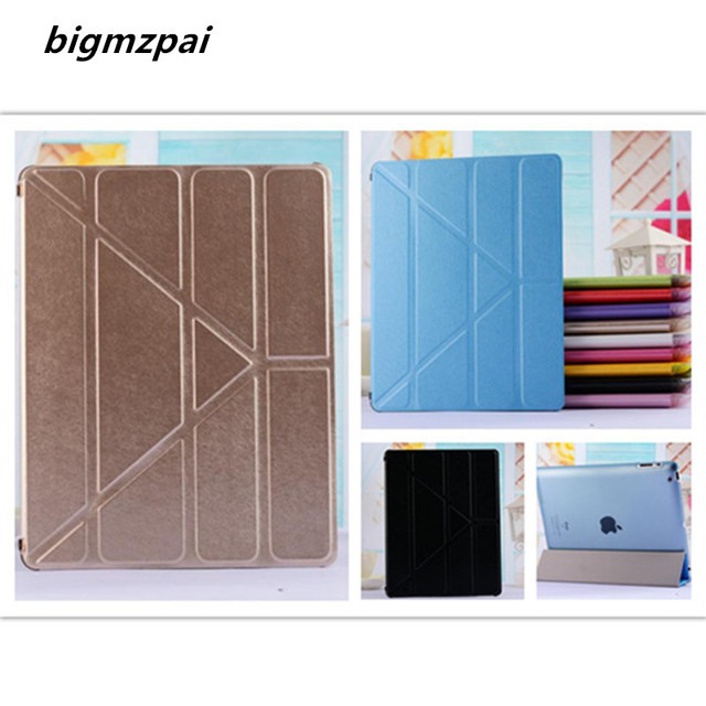 New cover For apple ipad 2 ipad 4 ipad 3 tablet case Smart Cover Slim Magnetic PU Leather flip Stand Cases Screen Protector Film