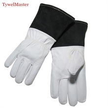 "TIG Welding Glove Premium Goatskin Glove 12""(30cm) Length with 5""(127cm) Cuff Split Cowhide Leather w Straight Thumb CE"