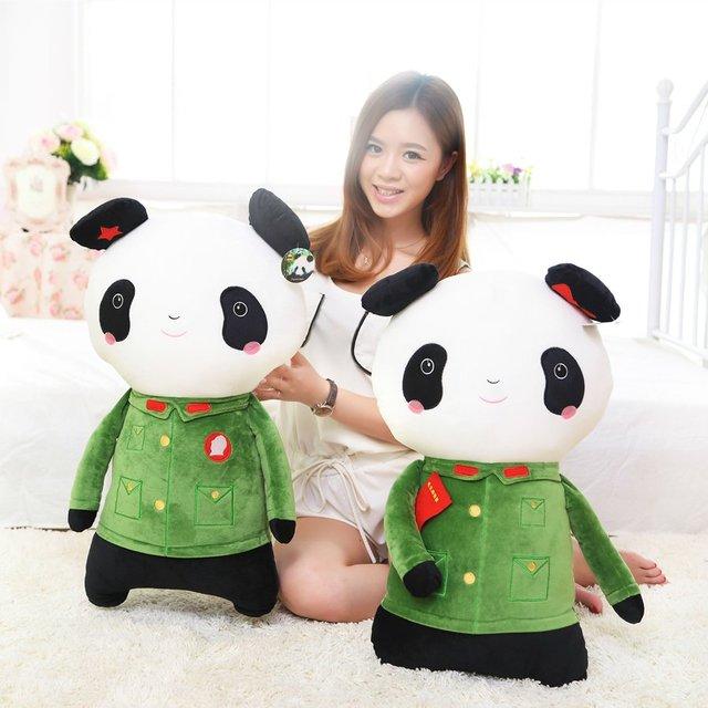 Legitimate Military Couples Panda Plush Toy Doll Doll Wedding Gifts