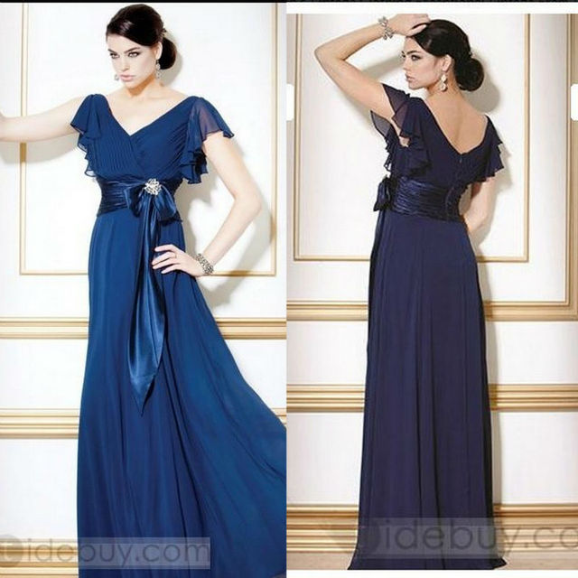 d37f55691f Empire Waist Plus Size Dress With Sleeves Plus Size Mother Of The Bride  Sash Floor Length Chiffon Women Gowns