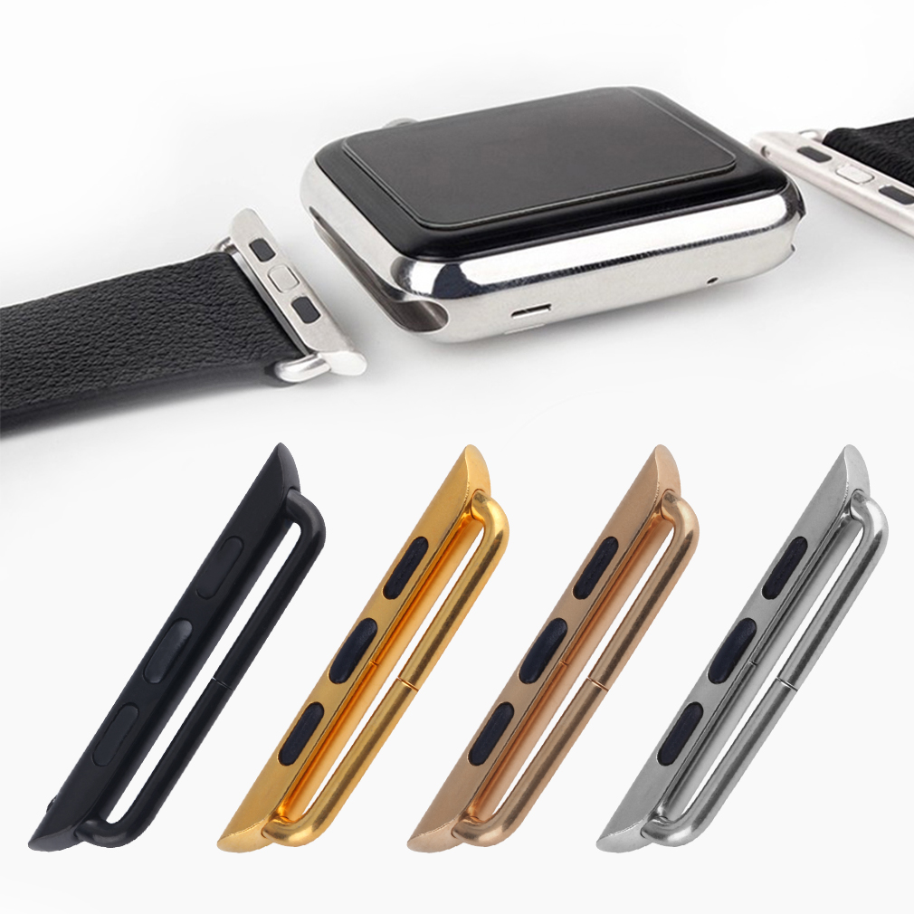 1 pc Seamless Metal Watch Strap Band Adapters Connectors 38/42mm For Apple Watch for iWatch Stainless Steel