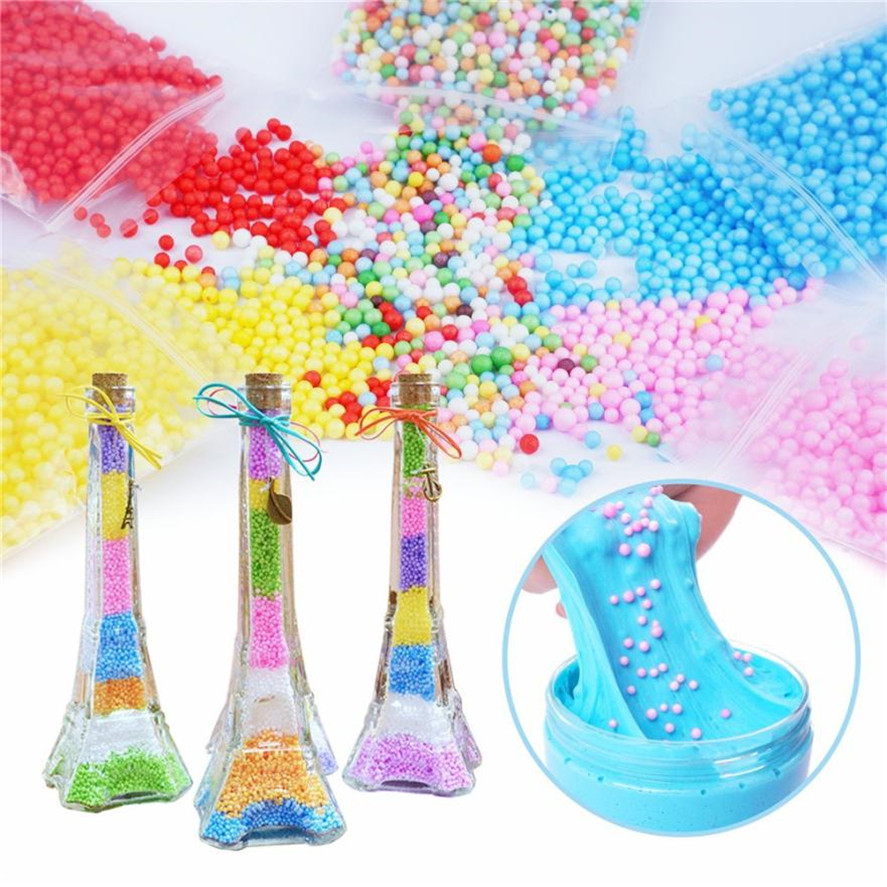 DIY Party Confetti decoration Slime Supplies Kit 60 Pack Slime Beads Charms Slime Tools  ...