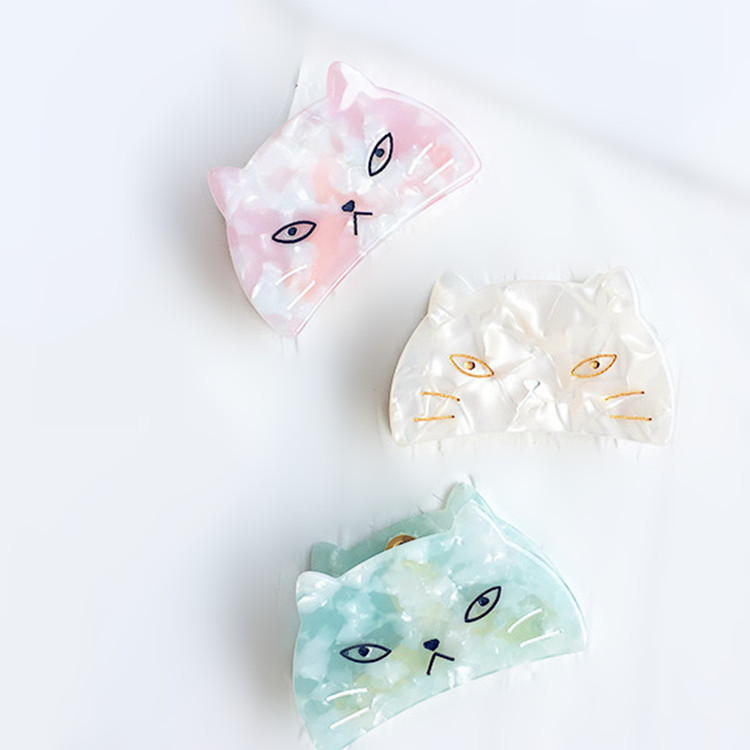 New Acetic acid cat crab hair claw clips For women girl headwear Ponytail holder accessories festival gift Crabs Jewelry 1