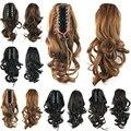 36 см, 100 г, волнистые Ponytails с зажимом, синтетические волосы хвост, конский хвост Наращивание Волос