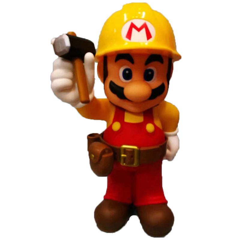 Super Mario Figure 30th Anniversary Mario Repairman PVC Action Figures Toy Doll Brinquedos