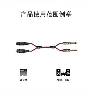 """Image 5 - Audio Kabel TRS 1/4 """"Jack 2 6,5mm zu 2 XLR FEMALE 3 Pin für Verstärker Mixer Konsole Dual XLR auf Dual 6,35mm Kabel 1 mt 2 mt 3 mt 5 mt"""