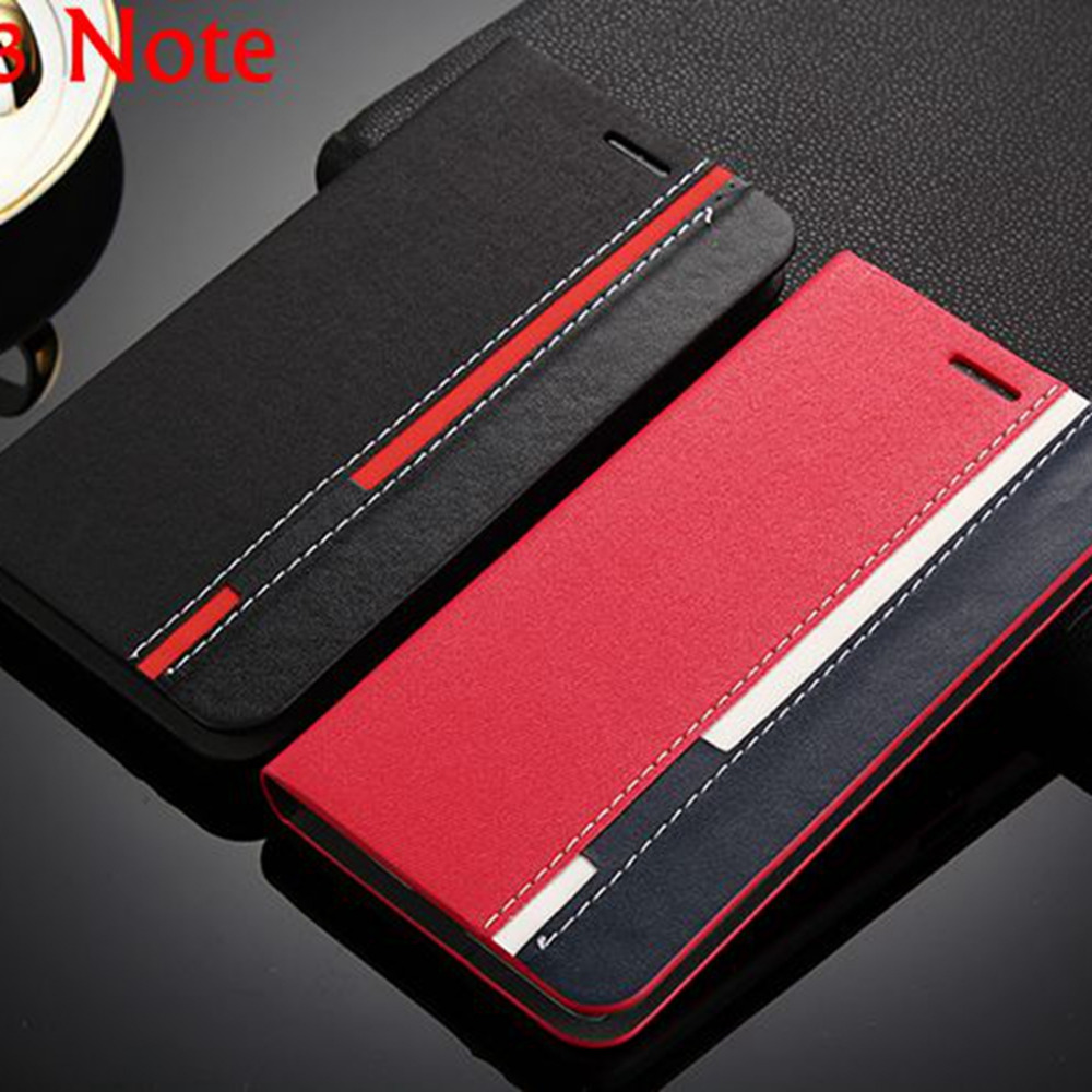 For Cover Lenovo A7000 Case Black Red Hit Color Leather Flip Cover sFor Lenovo K3 Note K50-T5 Cover For Lenovo A7000 Case nh307
