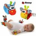 2 Brinquedo Macio Do Bebê Do Bebê Chocalhos & Mobiles pçs/set Wrist Band Jardim Bug Chocalhos Banda Relógio de pulso Bonito Dos Desenhos Animados de Pelúcia Chocalho # F
