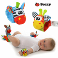 2pcs/set Baby Rattles & Mobiles Soft Baby Toy Wrist Band Wrist Watch Band Rattles Cute Cartoon Garden Bug Plush Rattle #F