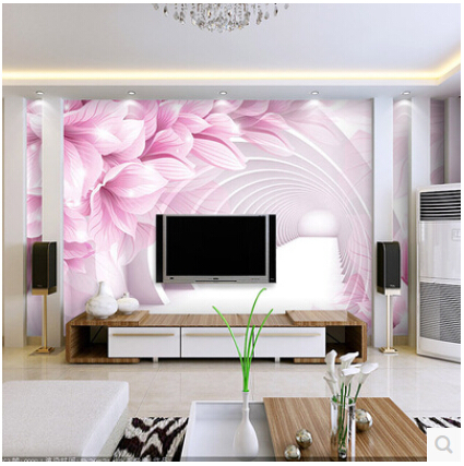 Large living room tv tv wall mural 3d wallpaper 3d for Modern 3d wallpaper for bedroom
