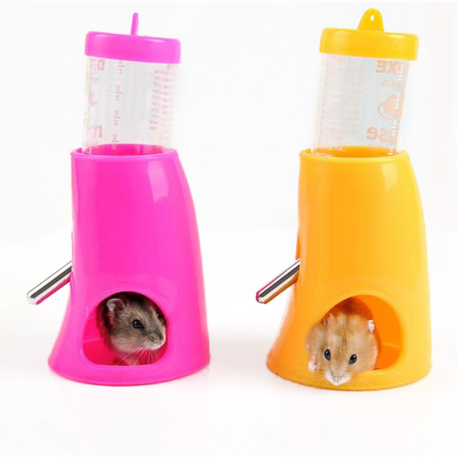 New Hamster Drinking Fountain With Cooling Room Summer Igloo House Drinking Fountain Bracket Integrated Water Feeder With Holder 5