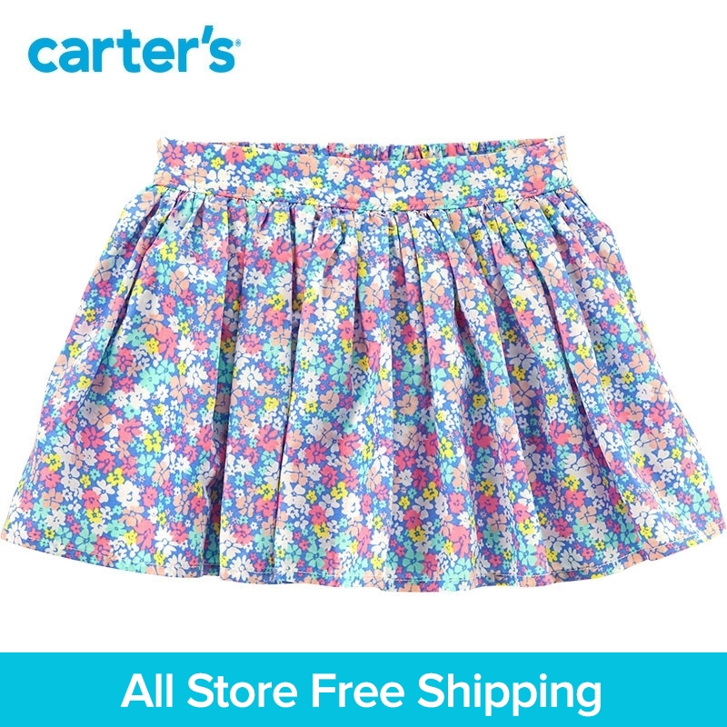 Carters 1-Piece baby children kids clothing Girl Spring Summer Floral Poplin Skirt 258G981/278H020