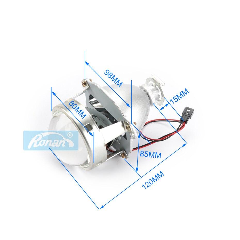 RONAN voiture style offre spéciale 1 paire support métallique amélioré 3.0 H1 Pro HID bi-xénon projecteur lentille H4 H7 phares utiliser H1 ampoule - 3