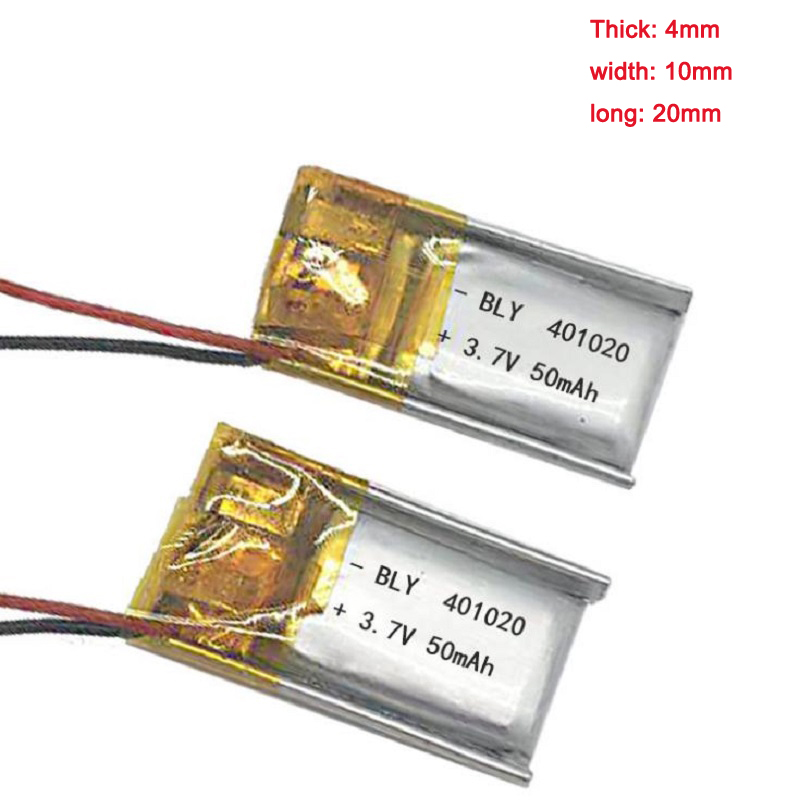 5pcs 401020 <font><b>Battery</b></font> 041020 Rechargeable <font><b>Batteries</b></font> Li-po <font><b>3.7V</b></font> for 1S RC Toys Rc Cars Bluetooth Speaker Headset Digital Products image