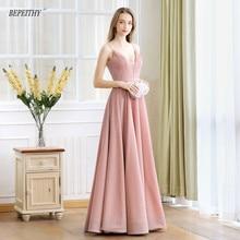 Robe De Soiree 2020 V צוואר רעיוני בד ארוך שמלת ערב המפלגה אלגנטי סקסי ללא משענת העבאיה Gece שמלות נשף