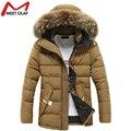 2016 Мужчины Зимняя Куртка С Капюшоном Хлопок Вниз Теплые Куртки И Пальто Мужские Случайные Толщиной Верхней Одежды Мужчин Плюс Одежда YL565