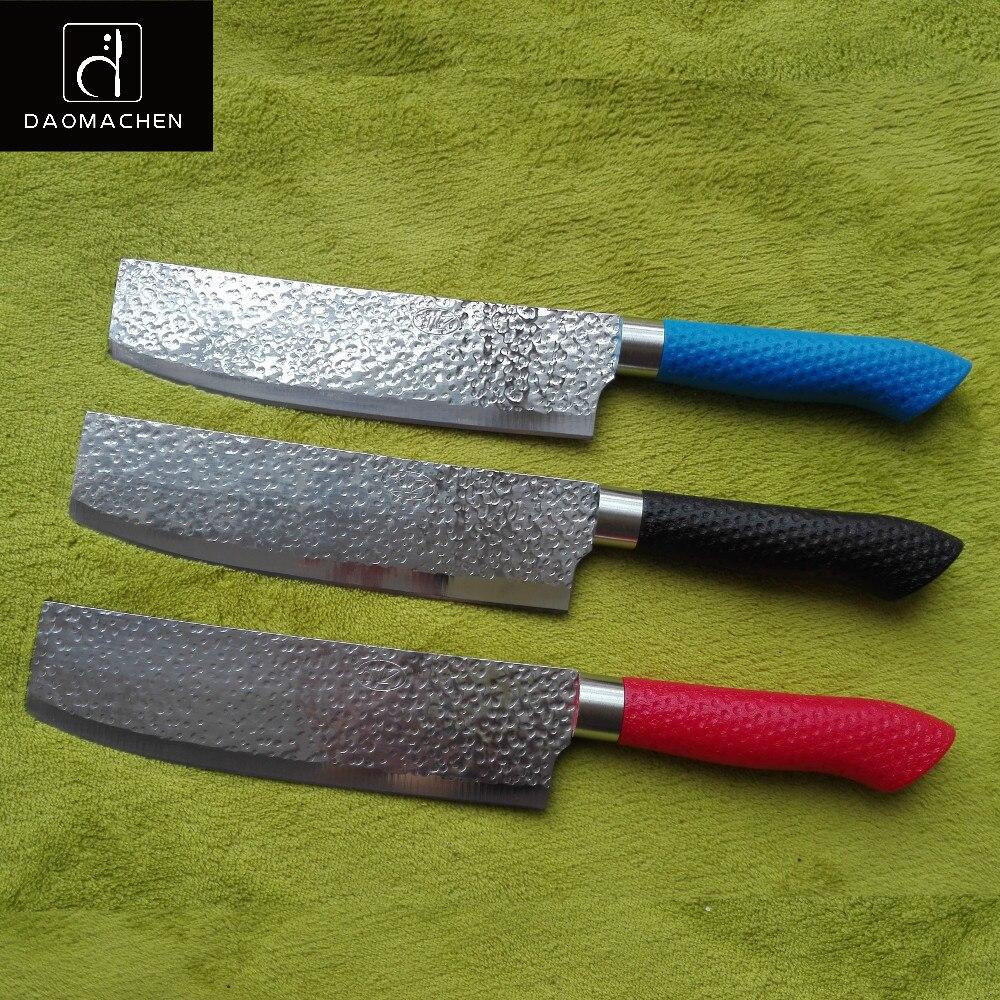 3 색 고기 엠보싱 주방 나이프 7 인치 요리사 나이프 실리카 젤 핸들 스테인레스 스틸 깎이 칼 필렛 나이프 주방