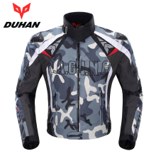 DUHAN Men's Oxford Cloth Motocross Off-Road Racing Jacket Guards Clothing Camouflage Motorcycle Alloy Shoulder Protector Jacket
