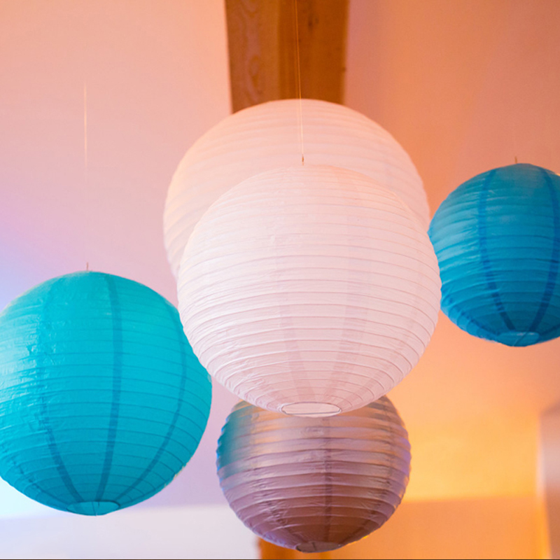20pcs/lot 12''(30cm) Chinese Paper Lanterns Mix Colors Lanterns Paper Ball Lampion for Wedding Birthday Party Decoration New