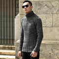 Free Shipping Fashion Classic Solid Color Turtleneck Sweater Men Winter Warm Pullover Men Slim Fit Cashmere Woolen Sweaters