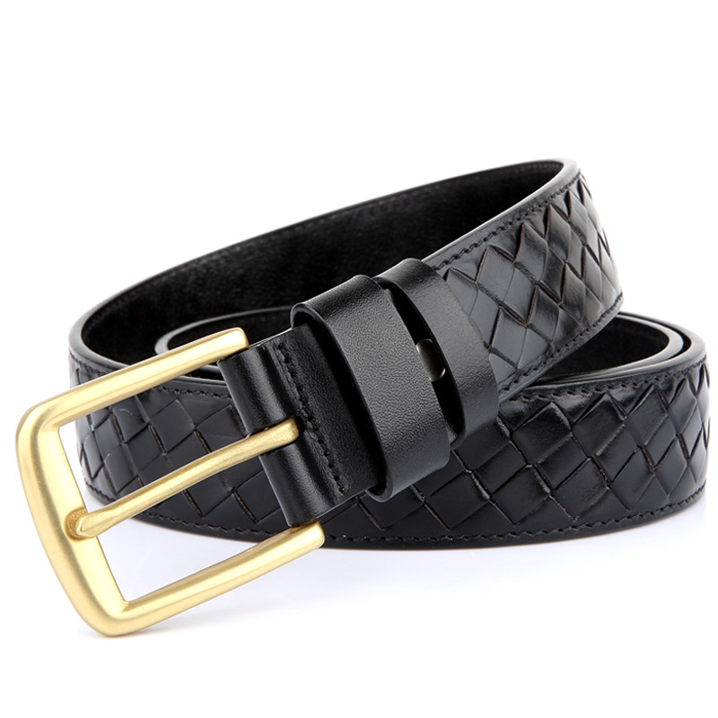 Quality Braided Belt Genuine Leather Luxury Men Belt Wide Waist Belt Ceinture Homme Cinturones Hombre Waist Belt Riem MBT0066