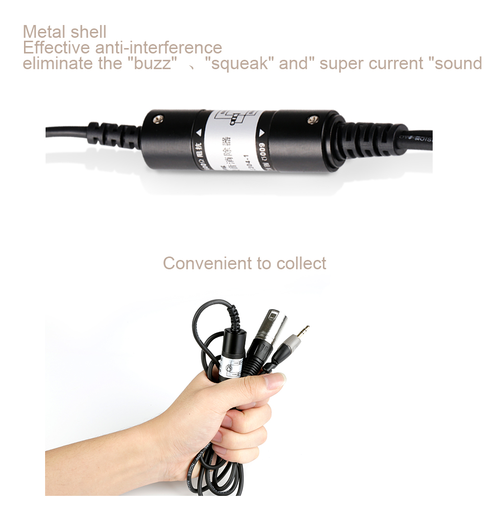 Soundking Audio cable Professional 3.5mm male to XLR male cable Noise Eliminator suit for the connection of mixer amplifier B41