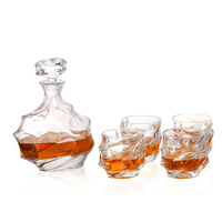 Whisky Glass 1 Set 1 Pcs Glass Bottle Decanters 750Ml 6 Pcs Glass Cup High Quality