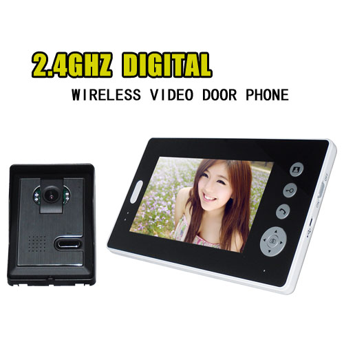 7 Inch 2.4Ghz Wireless Camera Take Photo And Video IR Night Vision Video Door Phone
