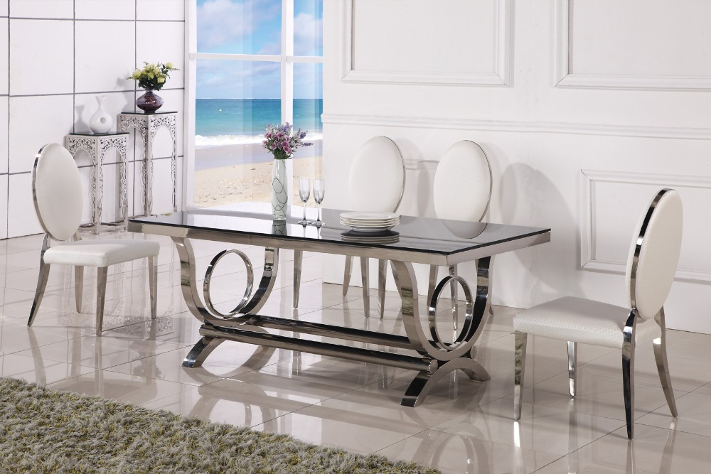 Dining Table Marble And Chair Cheap Modern Dining Tables 6 Chairs(China)
