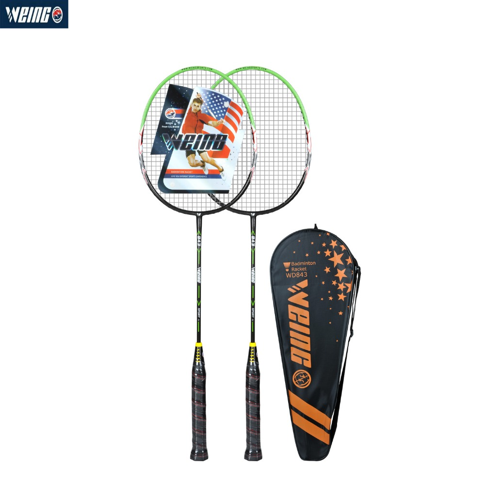 WEING WD-843 Badminton Racket Professional Offensive Powerful Racquet Training Indoor Outdoor With Bag