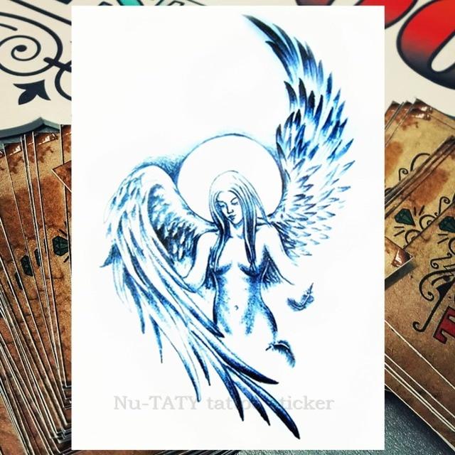 Nu Taty Ange Gardien Temporaire Body Tattoo Art Manches Bras Flash