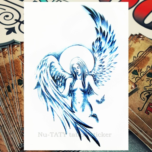 Nu Taty ángel Tatuaje Temporal Arte Tatuaje 2115 Cm Impermeable