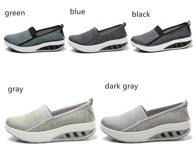 LAOCHRA Women's Thick Bottom Shoes 2018 New Fashion Leisure Women Swing Shoes Breathable Flats Platform Sneakers Lady Footwear 1