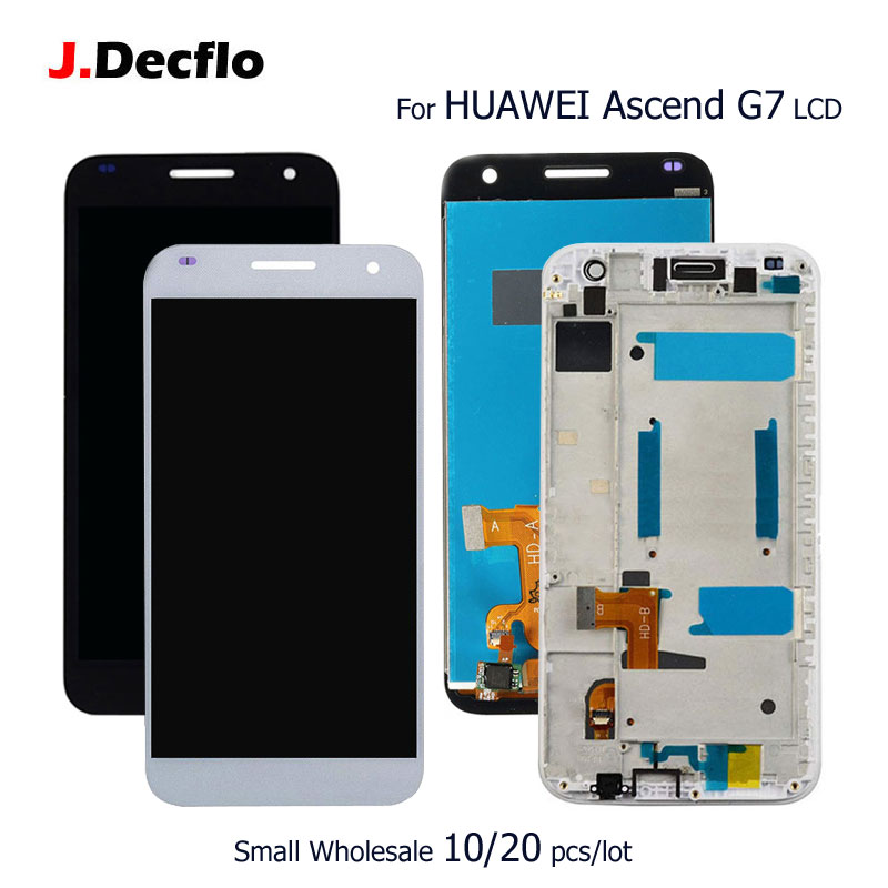 10/20 pcs/lot For HUAWEI Ascend G7 LCD Display+Touch Screen Digitizer Assembly Replacement Parts with/no Frame Original 5.510/20 pcs/lot For HUAWEI Ascend G7 LCD Display+Touch Screen Digitizer Assembly Replacement Parts with/no Frame Original 5.5