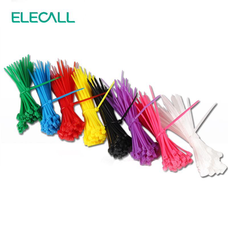 8 colours Self-Locking Nylon Cable Ties 100Pcs/Pack Colorful Cable Zip Tie Loop Ties For Wires Tidy And Sort Colours 3*100mm