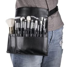 New Professional Cosmetic Brush Bag Women Belt Strap Eyeshadow Makeup Brush Waist Bag Storage Pocket Pouch Makeup Tools(China)