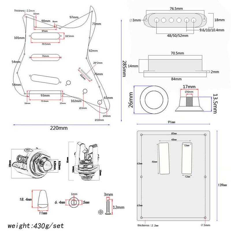Accessoires d'instruments de musique portables Pickguard pour les mélomanes ASD88
