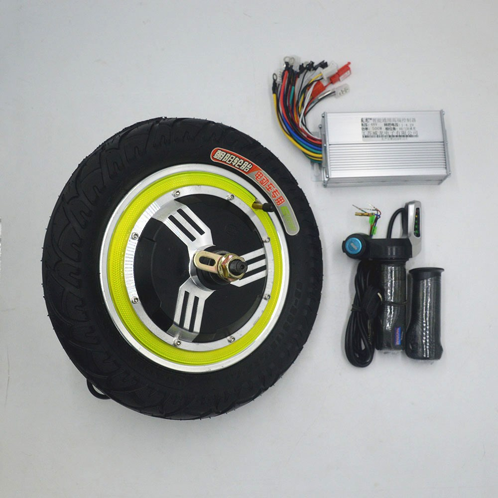 electrice scooter kit with 12inch wheel motor 350w brushless controller throttle use for electrice bike Electrice
