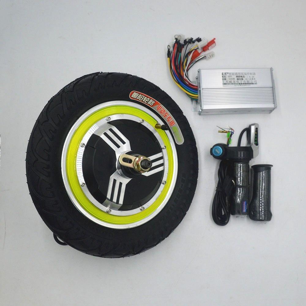 Kit de scooter électrique avec moteur de roue de 12 pouces 350 w contrôleur sans balai utilisation des gaz pour SCOOTER électrique de vélo électrique