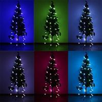 3 Modes 48 Bulb LED String Lights Christmas Holiday Laser Light For Party Wedding Christmas Tree Decoration Energy Saving