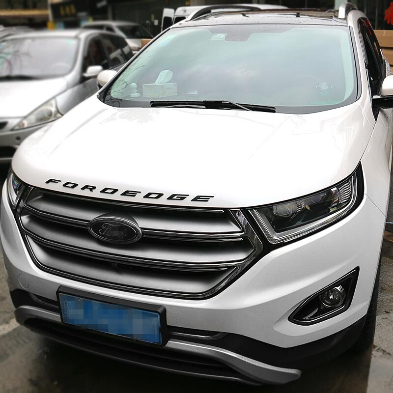 For Ford Edge   Silver Graphite Hood Letters Emblem Gloss Finish Metal Emblem In Car Stickers From Automobiles Motorcycles On Aliexpress Com