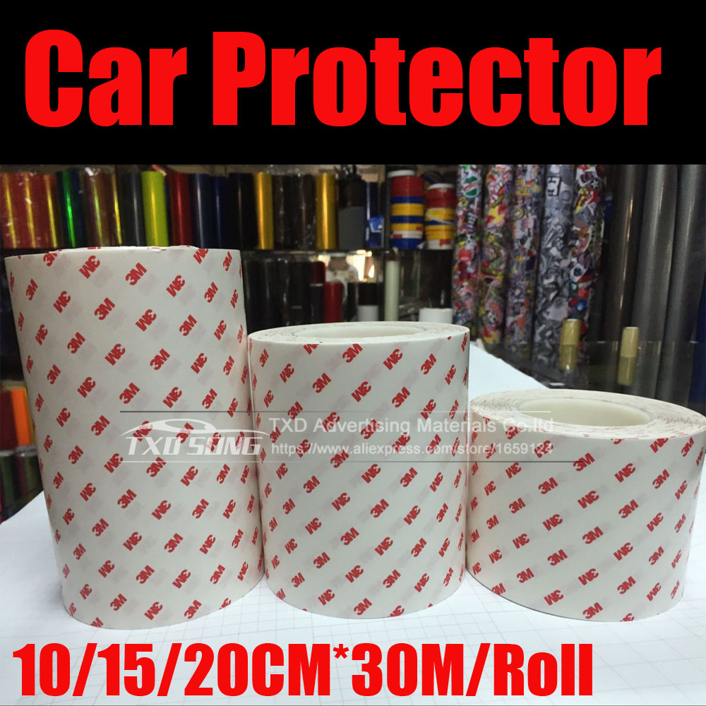 Whole Roll 10/20/30CM*30M/Roll Good Anti Scratch Rhino Skin Sticker Vinyl Clear Transparence Thickness Bike Protective Flim