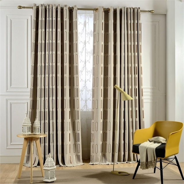 US $16.91 43% OFF|Modern Blackout Curtains Thick Jacquard Luxury Cortinas  For Living Room Window Curtains For Bedroom Curtains Fabrics Tend p2644-in  ...